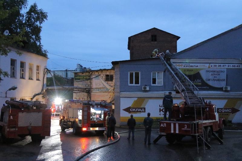 В Смоленске сгорело административное здание