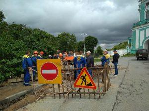 Сотрудники «Квадры» работают на месте аварии, оставившей более 50 тысяч жителей Смоленска без горячей воды