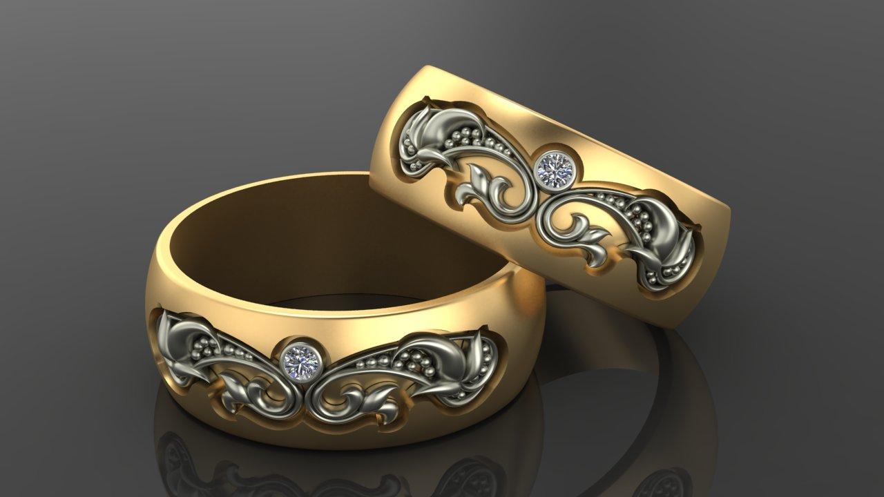 Золотое кольцо. Женские золотые обручальные кольца