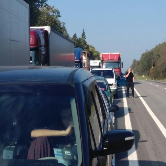 В Смоленской области закрыли движение по трассе М1