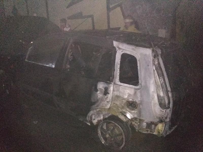 В Смоленске сгорела очередная иномарка