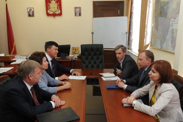 Состоялась рабочая встреча заместителя губернатора Василия Анохина и представителей Банка России