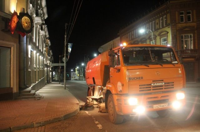 В Смоленске перестали мыть улицы