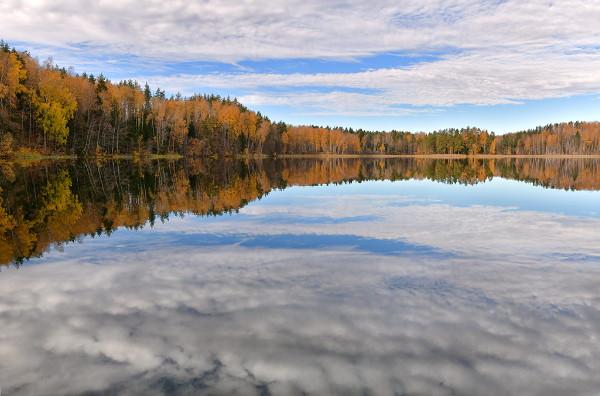 Красивая осень в Смоленском поозерье