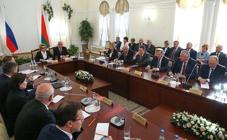 Председатели Совета Федерации РФ и Совета Республики Белоруссии встретились с руководителями регионов двух стран