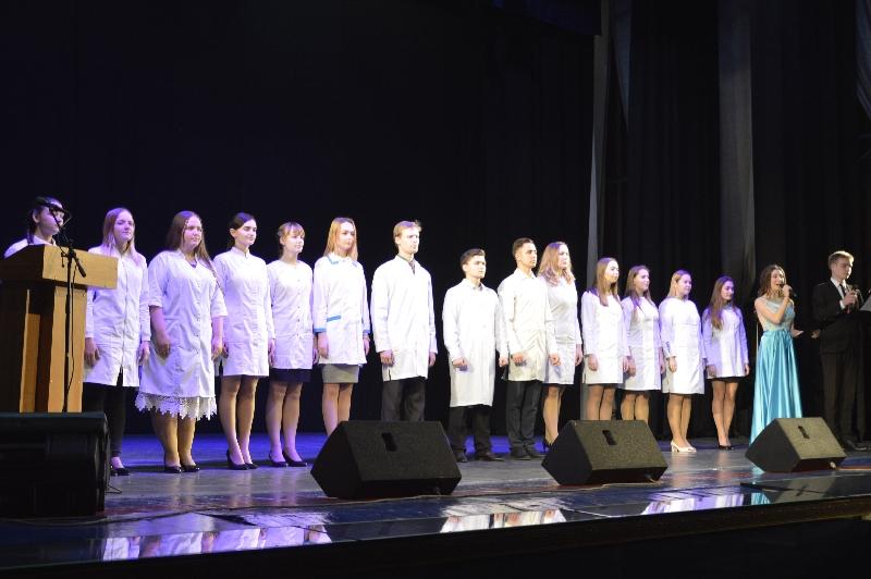 В Смоленском государственном медицинском университете прошло посвящение в студенты