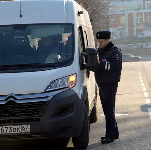 В Смоленске устроили массовую проверку маршруток