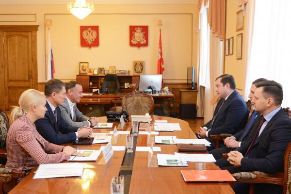 Новый председатель Среднерусского банка провел встречу с губернатором Смоленской области
