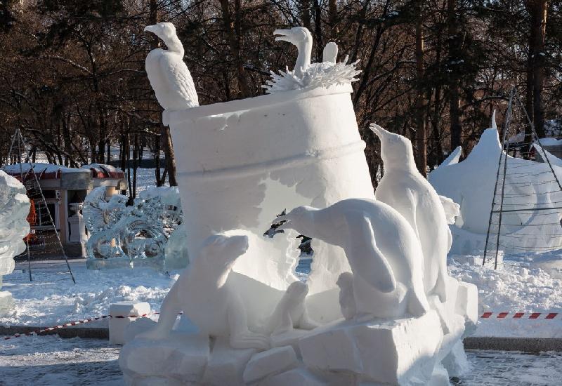 Райцентр Смоленской области украсят снежными скульптурами