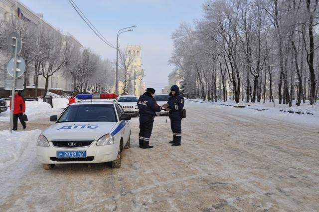 Сотрудники ГИБДД провели рейд в центре Смоленска после жалоб горожан