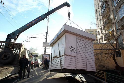 В Смоленске проспект освободят от ларьков