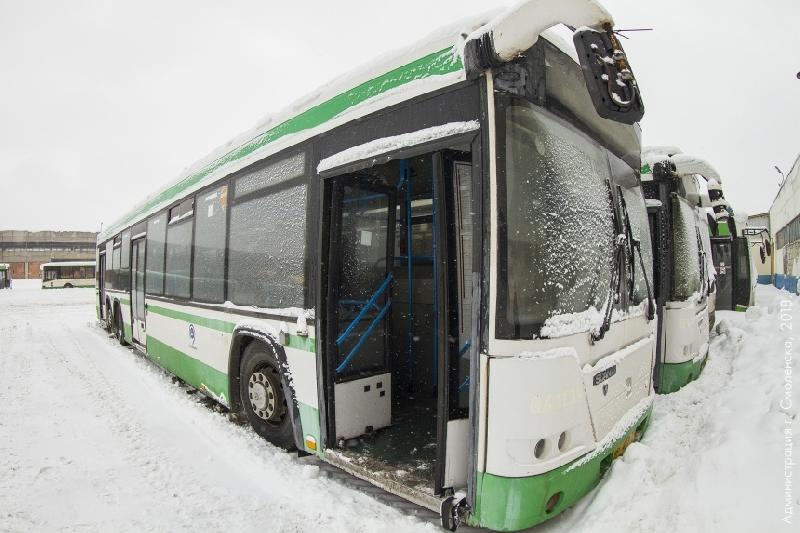 В Смоленске становится все больше автобусов из Москвы