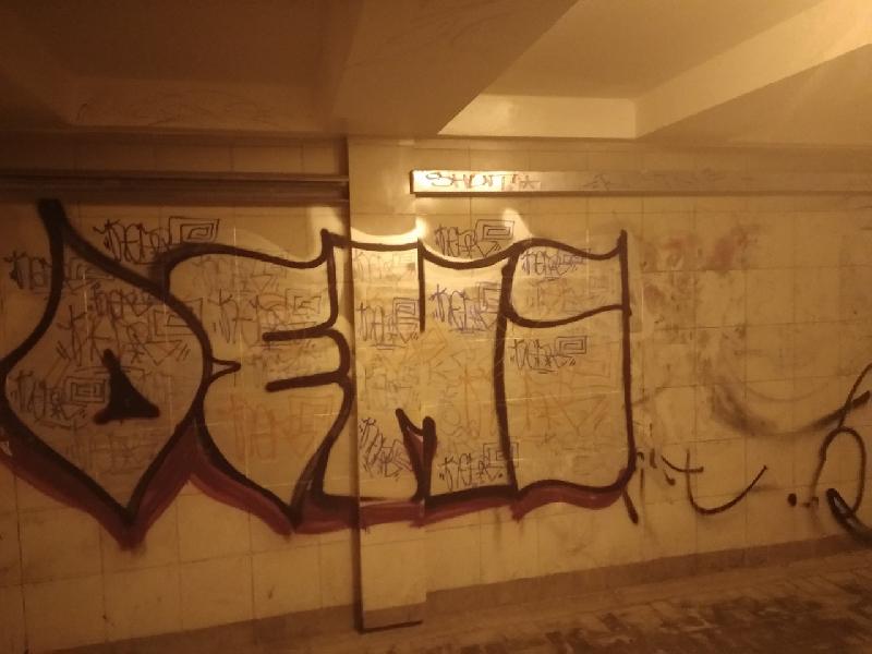 «Кракозябры». Вандалы обезобразили подземный переход в Смоленске