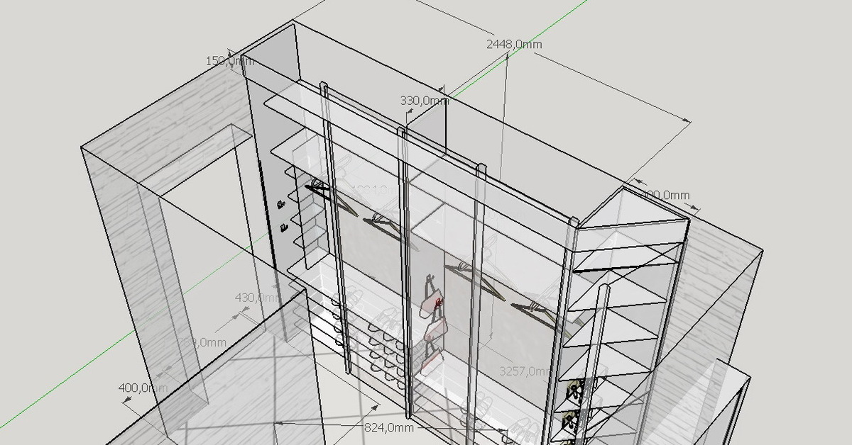 Моделируем шкаф купе для себя