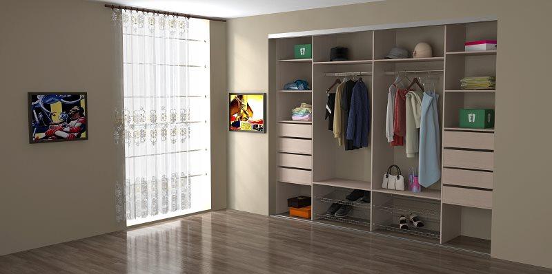 Преимущества встроенного шкафа-купе