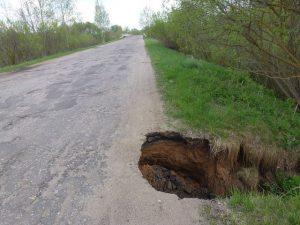Смоляне просят дорожников «заметить яму»
