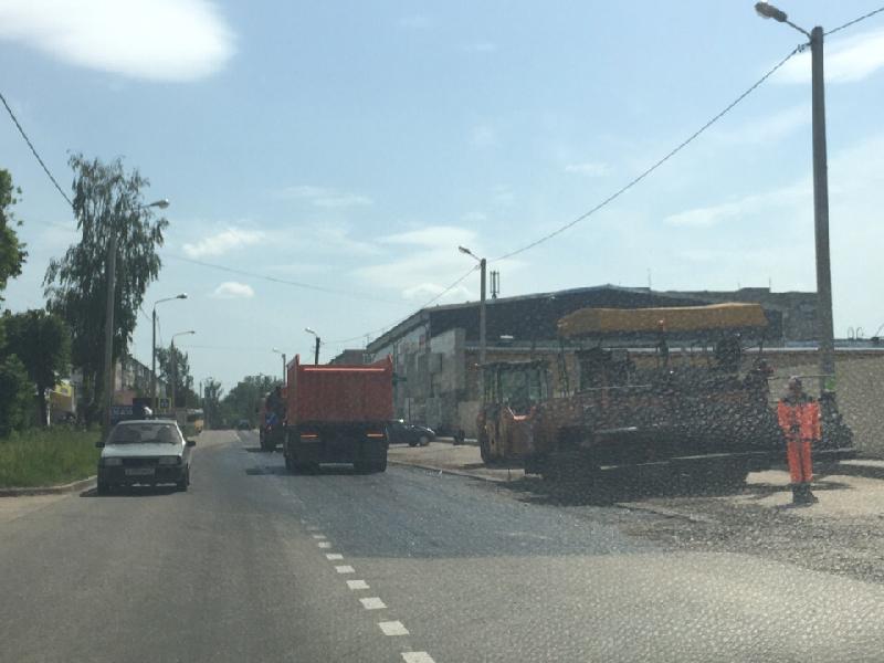 В Смоленске приступили к ремонту дороги в Сортировке