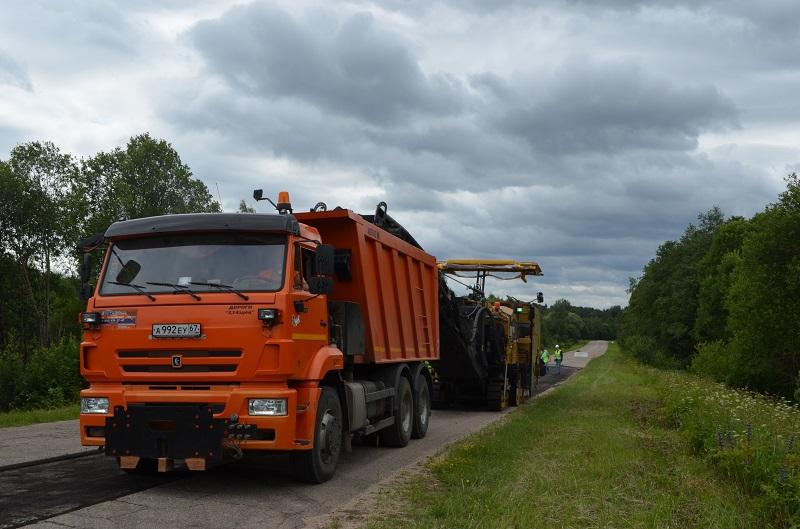 «Смоленскавтодор» начал ремонт дороги под Дорогобужем