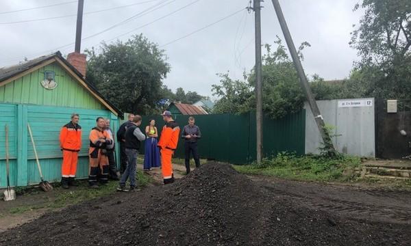 После жалобы смолян Дмитрию Медведеву в Сортировке начали ремонтировать дорогу