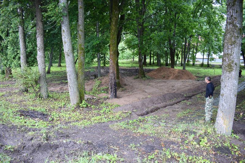 Где в Смоленской области приступили к строительству парковой зоны