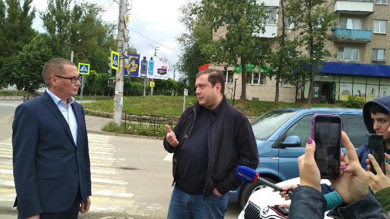 Губернатор проинспектировал ход ремонта дорог в Смоленске