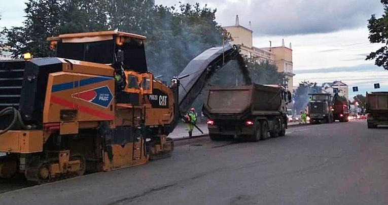 «От площади Победы до Досуговского шоссе». В Смоленске начался ремонт дороги