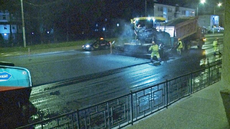 В Смоленске на улице Крупской закончились дорожные работы