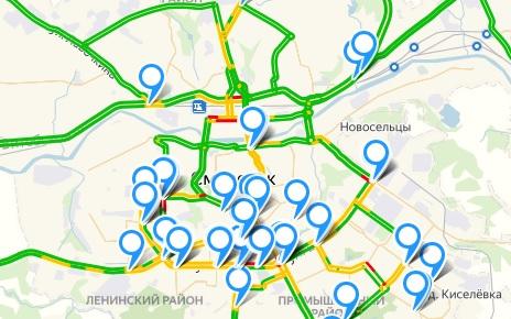 На сайте Смоленскавтодора появилась интерактивная карта камер на дорогах