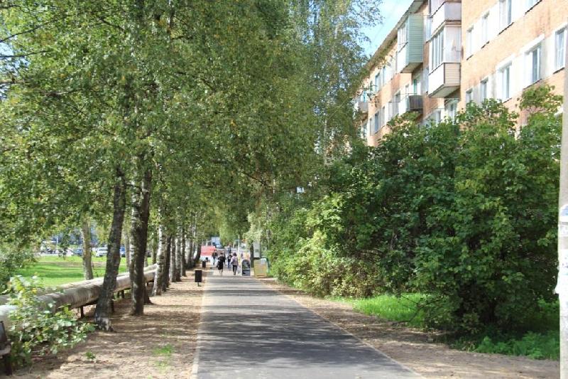 В смоленском райцентре благоустроили пешеходные зоны