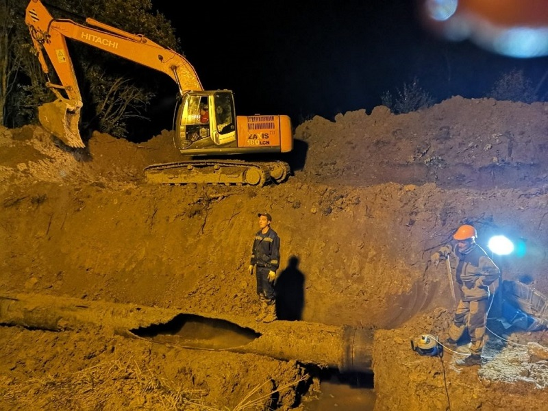 И снова в Вязьме отремонтировали водопровод