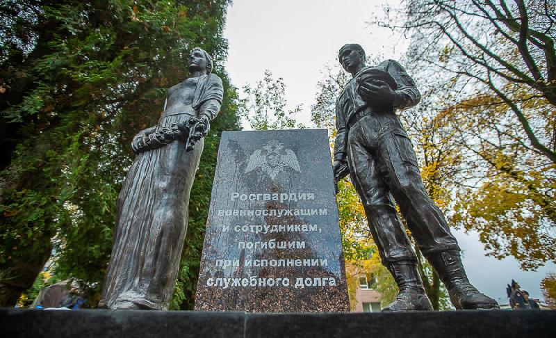 В Смоленске открыли памятник погибшим воинам правопорядка