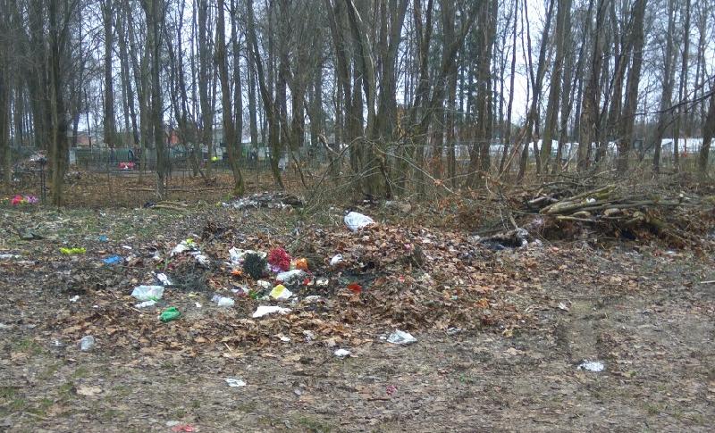 «Везде бардак». Жители смоленского райцентра волнуются о состоянии кладбища