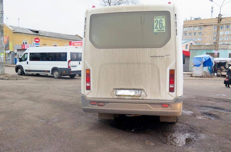 В Смоленске грязные маршрутки сняли с линии