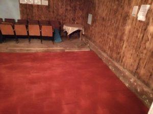 В смоленском сельском клубе отремонтировали пол