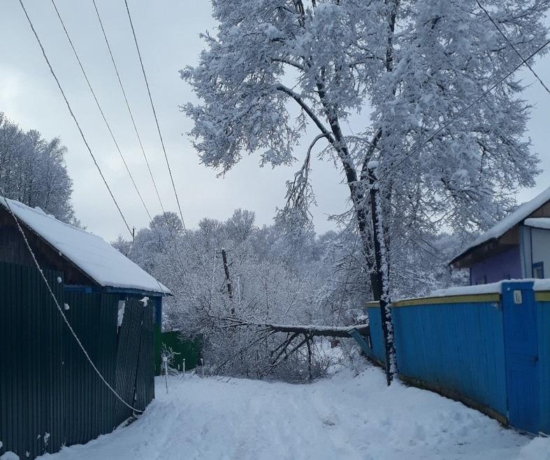 В Смоленской области стихия оставила без электричества целый район