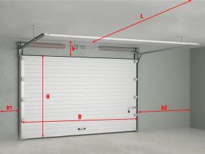 Установка секционных ворот для гаража