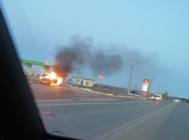 В МЧС рассказали подробности пожара на АЗС в Смоленском районе
