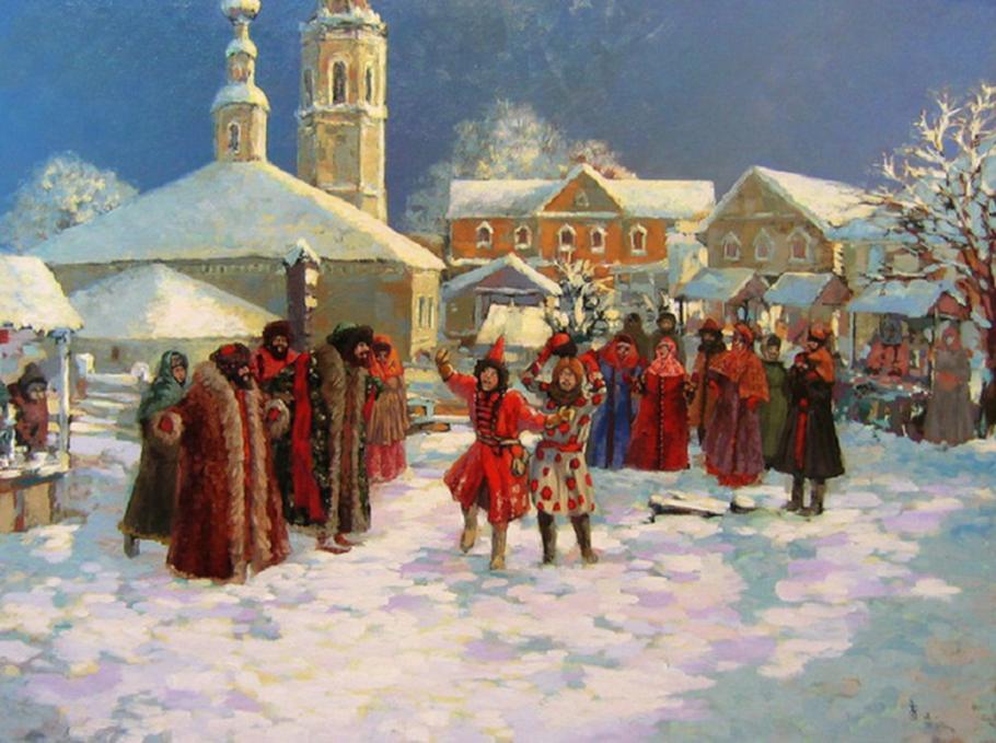 Январские праздники на Руси