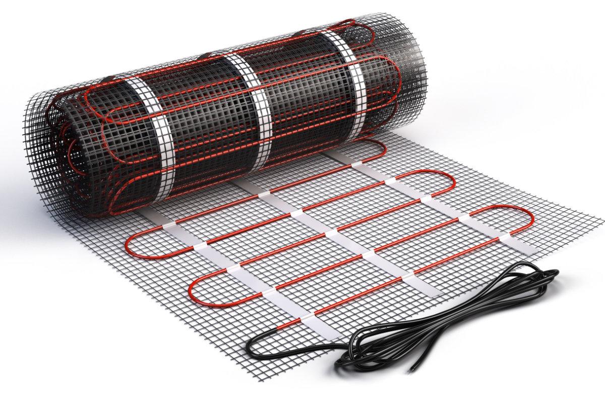 Электрический теплый пол на основе греющего мата