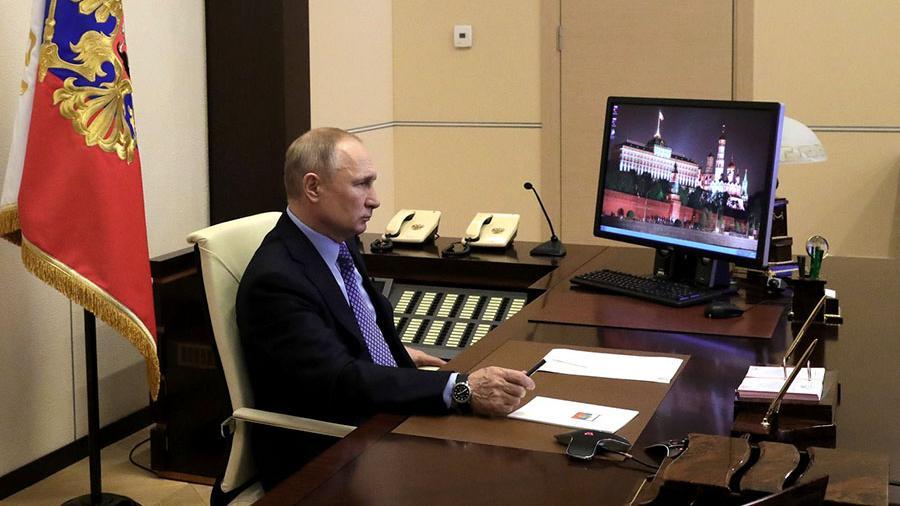 Путин заявил о необходимости дистанционной работы в условиях COVID-19