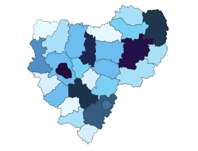 В Смоленской области осталось всего 2 «чистых» от COVID-19 района