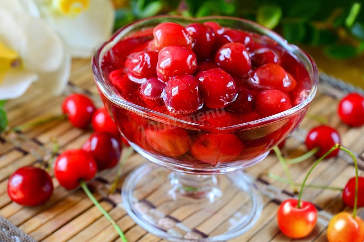 Заготовочки на зиму: черешня в собственном соку – рецепт