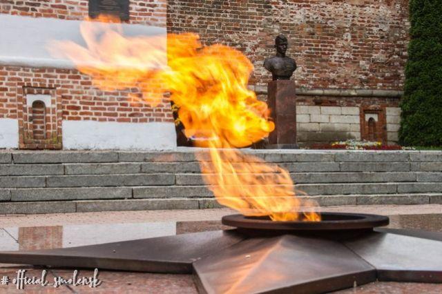 Вечный огонь временно перенесут в Смоленске