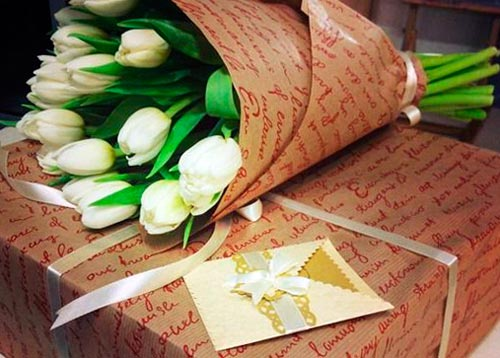 Крафт бумага для цветов оптом