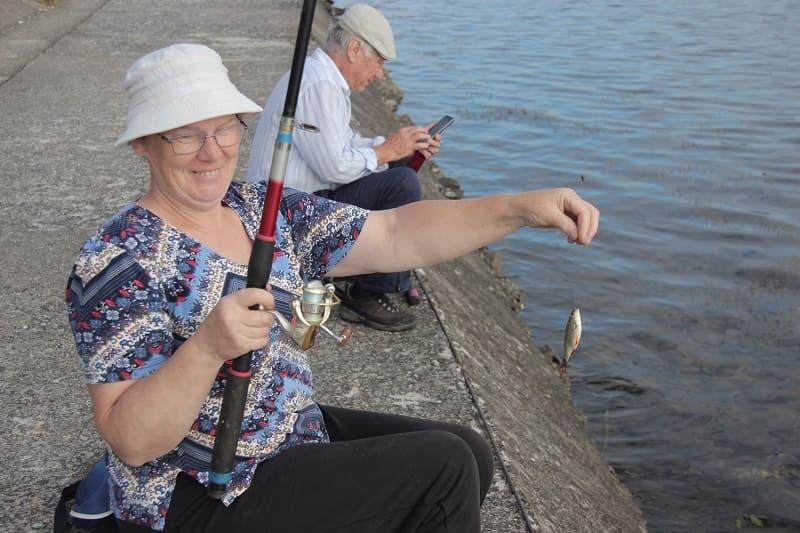 На Десногорском водохранилище прошел конкурс рыбаков-пенсионеров