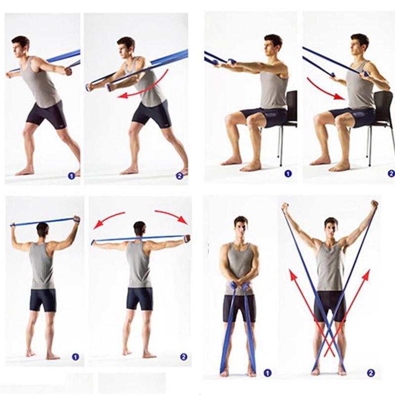 Упражнения с резинками на все группы мышц