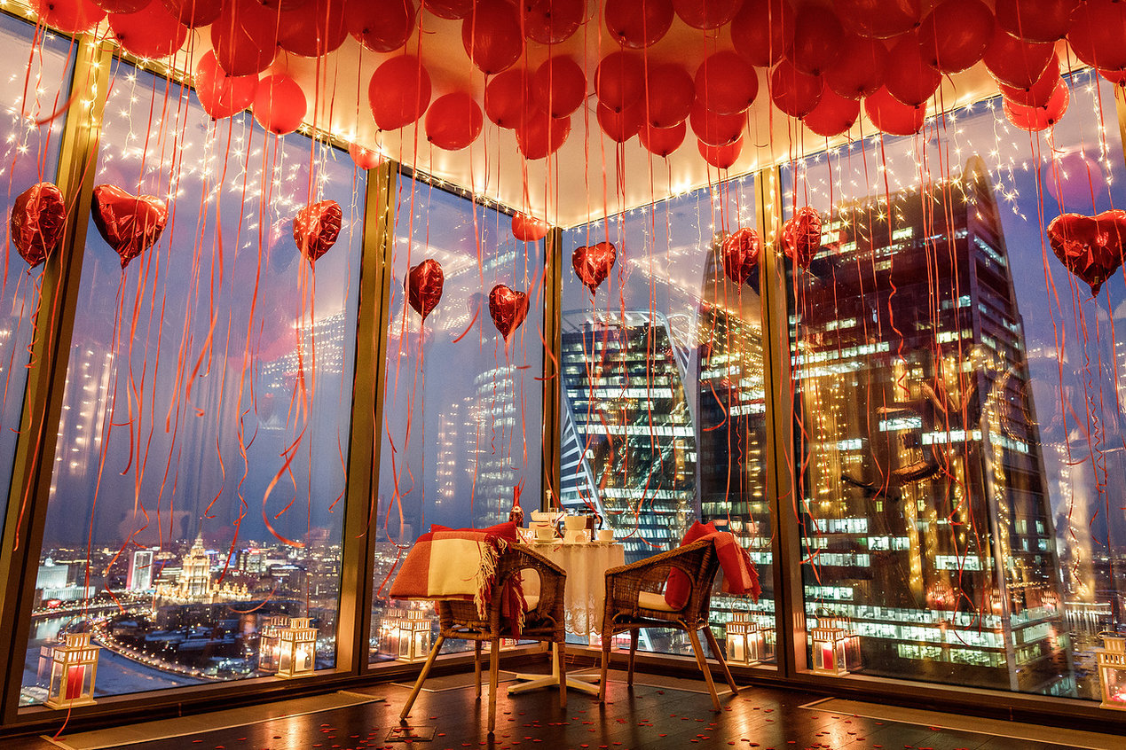 Романтическое свидание в башне Москва сити