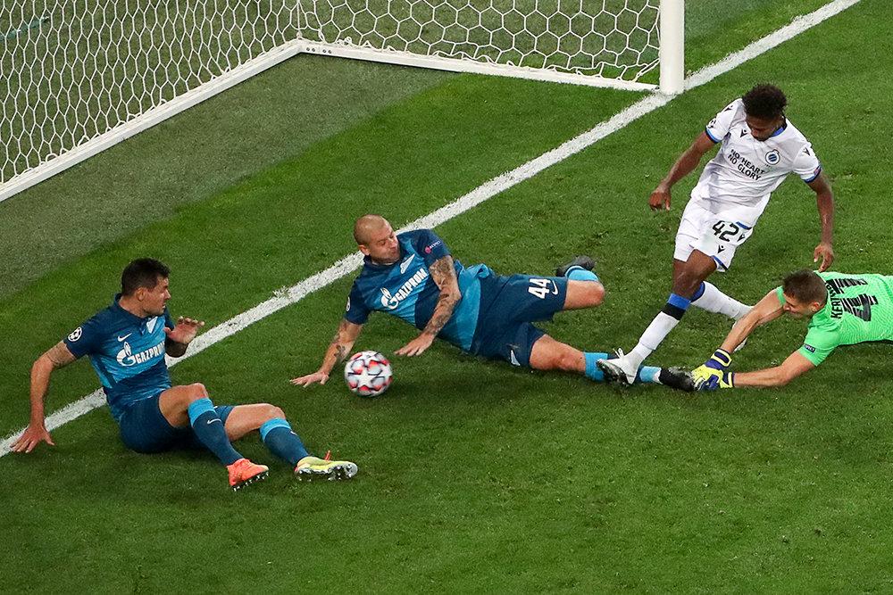 «Зенит» проиграл «Брюгге» в своем стартовом матче в Лиге чемпионов