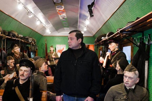 Глава Смоленской области побывал в передвижном «Поезде Победы»