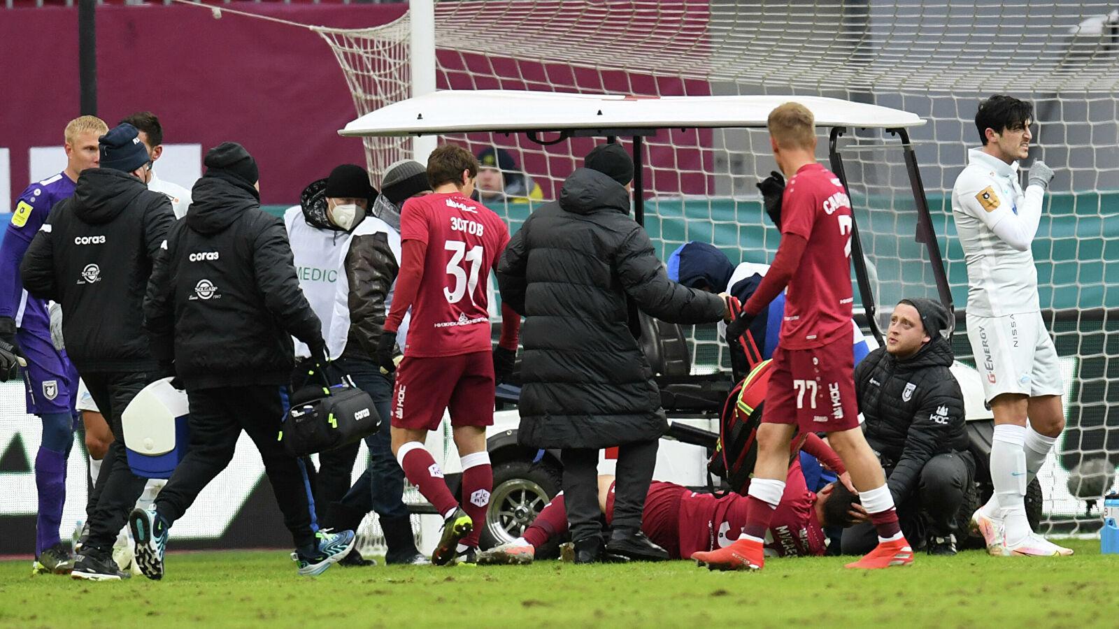 Стало известно, какую травму получил Мусаев в матче с «Зенитом»